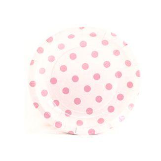 White And Pink Polka Dot Dessert Paper Plates Pink Polka Dots Paper Plates Plates