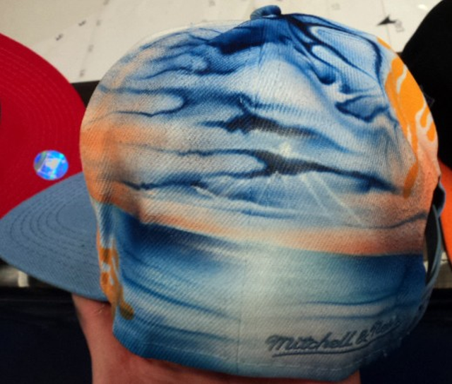21ef22a5402 San Diego Chargers Airbrushed Leather Strapback Hat
