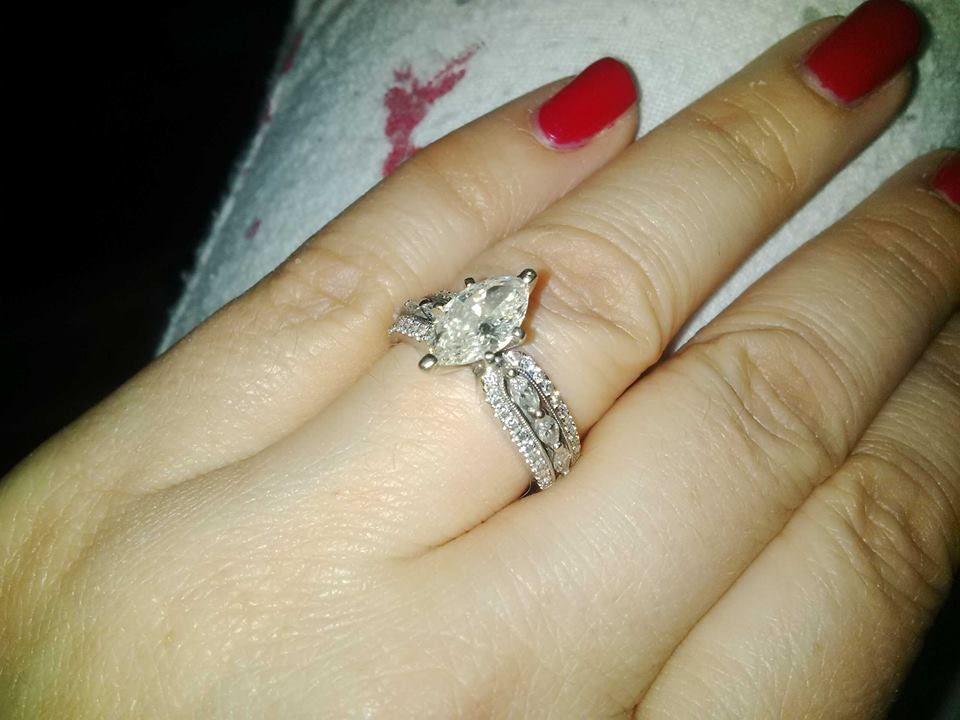 Custom Engagement Ring 2.5ct Marquise solitaire /1.5 diamondettes Platinum White Gold