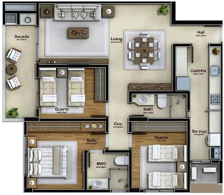 Pinterest claudiagabg apartamento 3 cuartos planos for Casa minimalista dwg