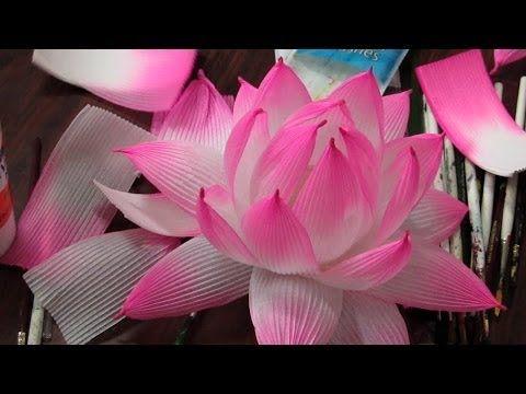 Lotus Lantern Making Workshop Youtube Paper Lotus Paper