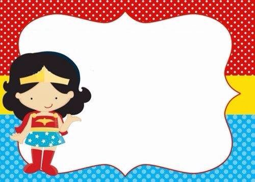Invitaci n mujer maravilla fiesta s per h roes - Pegatinas pared infantiles disney ...