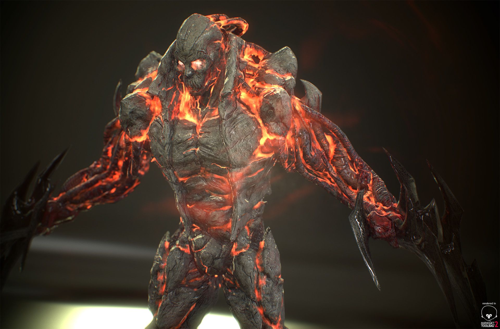 It's a Lava Goliath that I did for a tutorial for CMIVFX