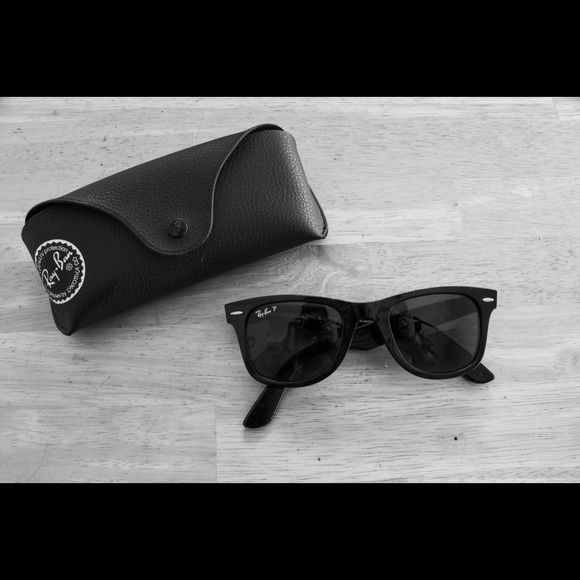 Black ray ban wayfarers Brand new condition black Ray bans with case Ray-Ban Accessories Sunglasses