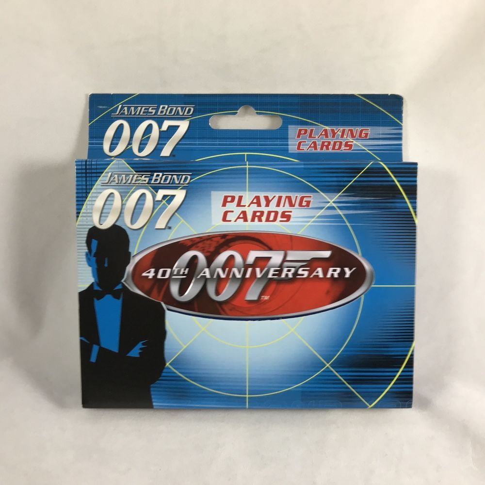 James Bond 007 Playing Cards In Tin 40th Anniversary 2 Deck