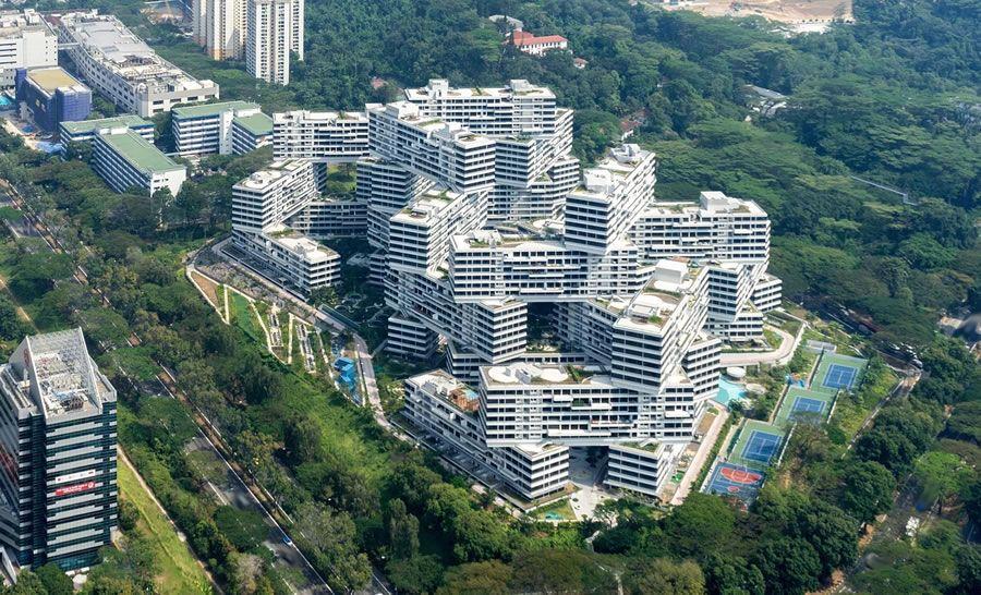 The Interlace Singapore Apartments Amazing View Rem Koolhaas World Architecture Festival Landscape Architecture Design