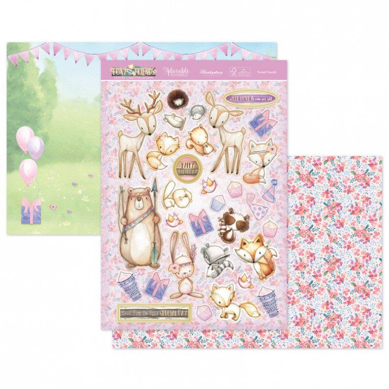 Hunkydory 3 A4 Lilac Moments Follow Your Heart Toppers /& Card Kit