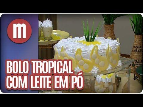 Bolo tropical com leite em pó — Receitas