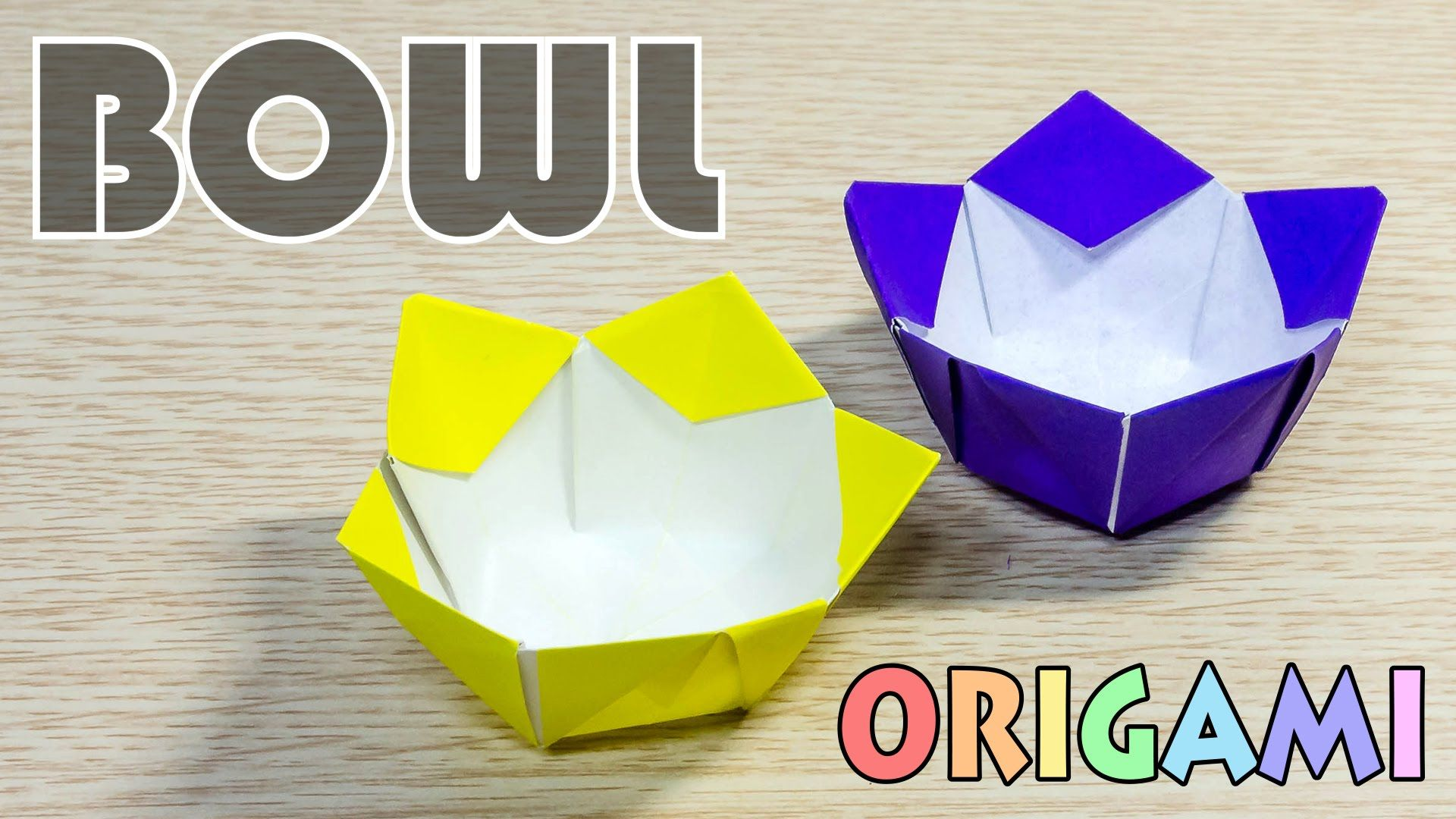 This Is A Pentagon Style Paper Bowl You Need Shape Origami Flowers Instructions Diagrams Or Rectangle To Cut Video Include Folding Figure Instruction Diagram