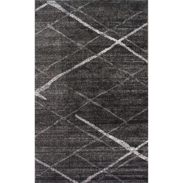 Nuloom Contemporary Striped Dark Grey Rug 8 6 X