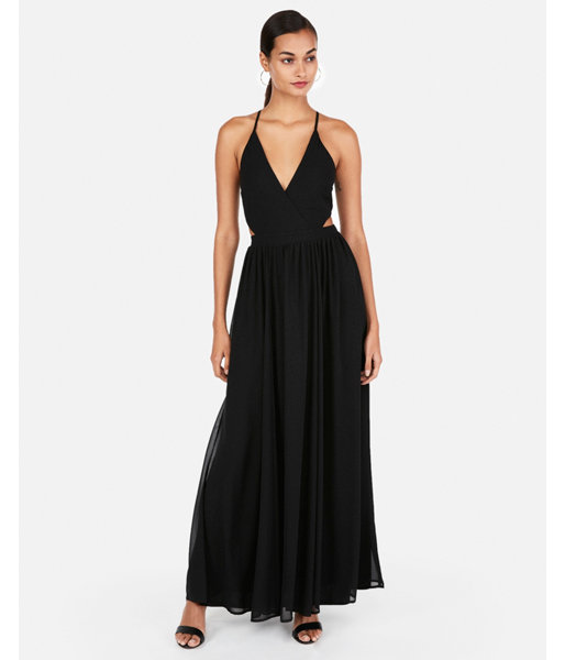 f88ce96db4d Strappy Lace-Up Cut-Out Maxi Dress Black Women s XXS in 2019 ...