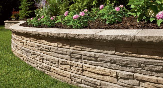 Retaining Wall Ideas Flagstone Natural Impressions Cap