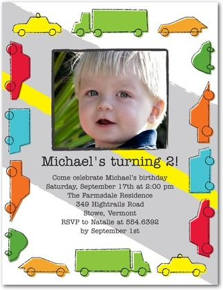 2nd birthday party invitations truck and train theme a few