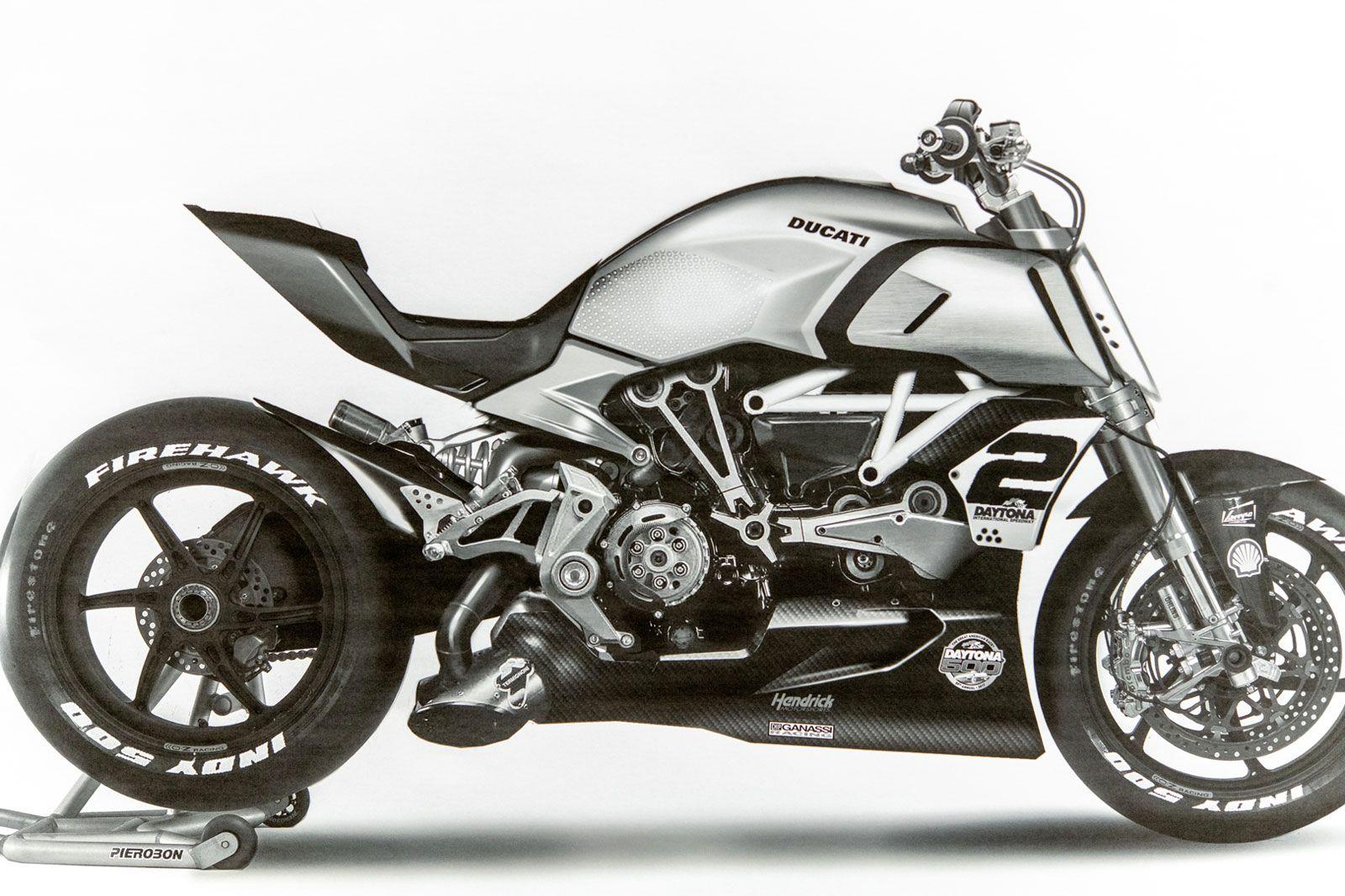 Ducati Diavel 1260 Design Sketch Ducati Diavel Bike Drawing Ducati
