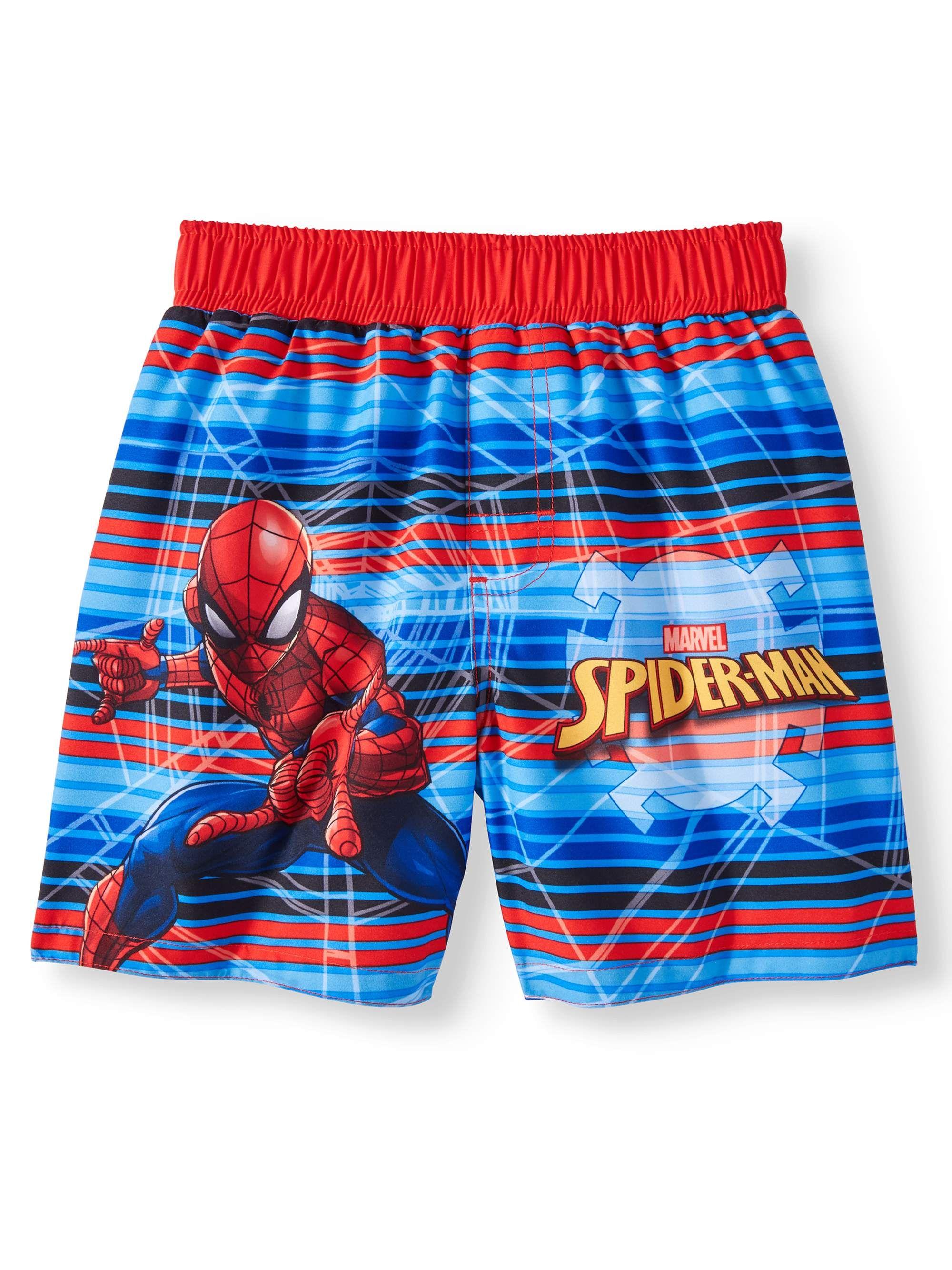 SPIDERMAN Toddler Boys 2 3 2T 3T Bathing Suit Swim Trunks Shorts Bottoms Marvel