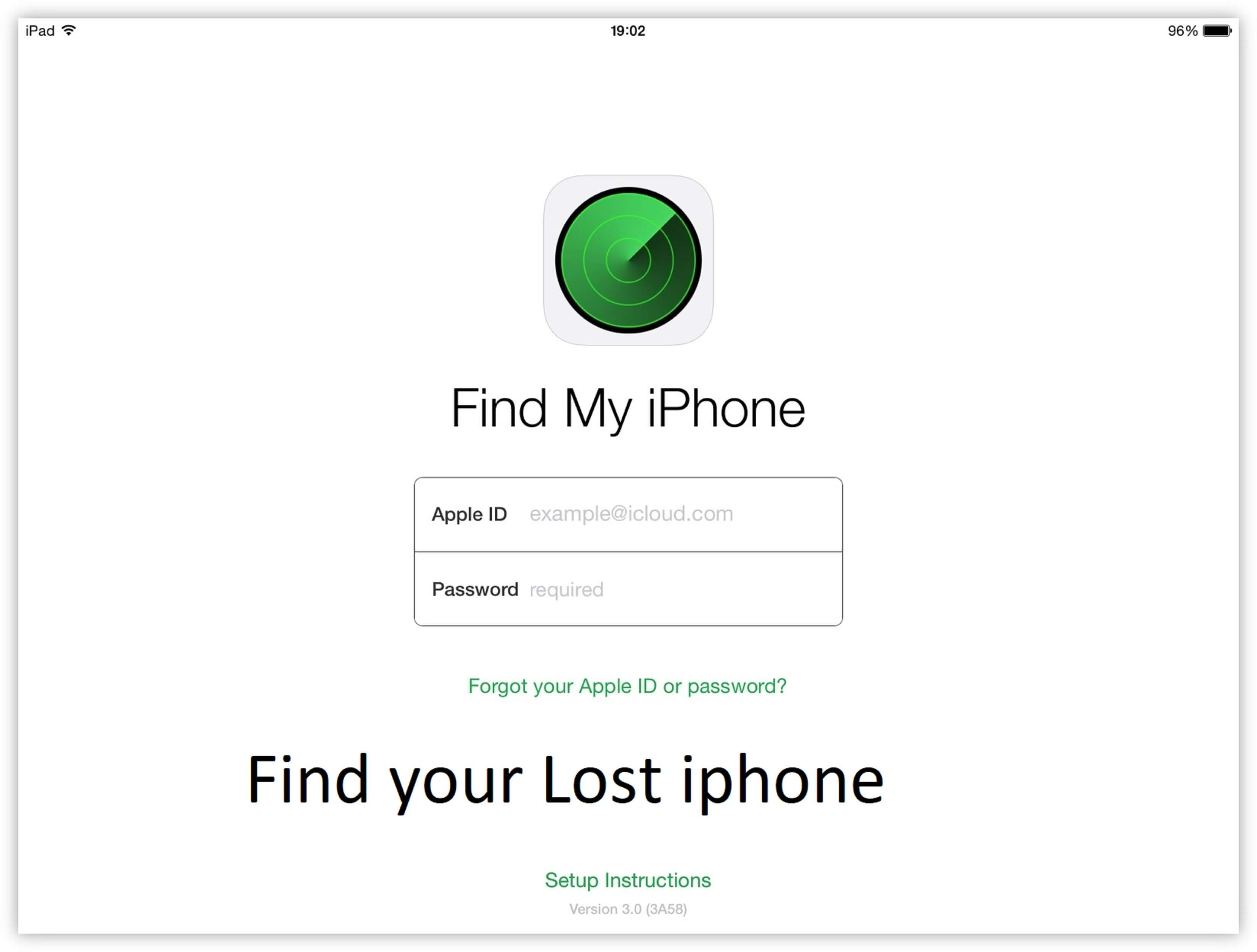 Find my iphone how to login and use find my iphone to