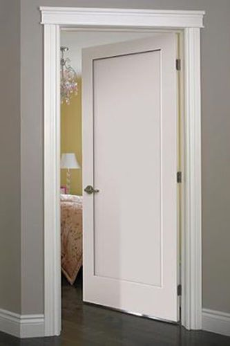 Madison 1 Panel Primed Smooth Solid Core Molded Wood Composite Interior Doors Doors Interior Shaker Interior Doors Jeld Wen Interior Doors