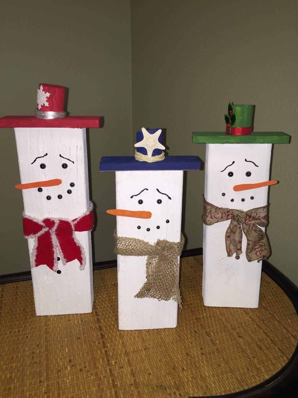 Palette de bois recycl es bonhomme de neige par bigislandboutique noel pinterest bois - Bonhomme de neige en bois ...