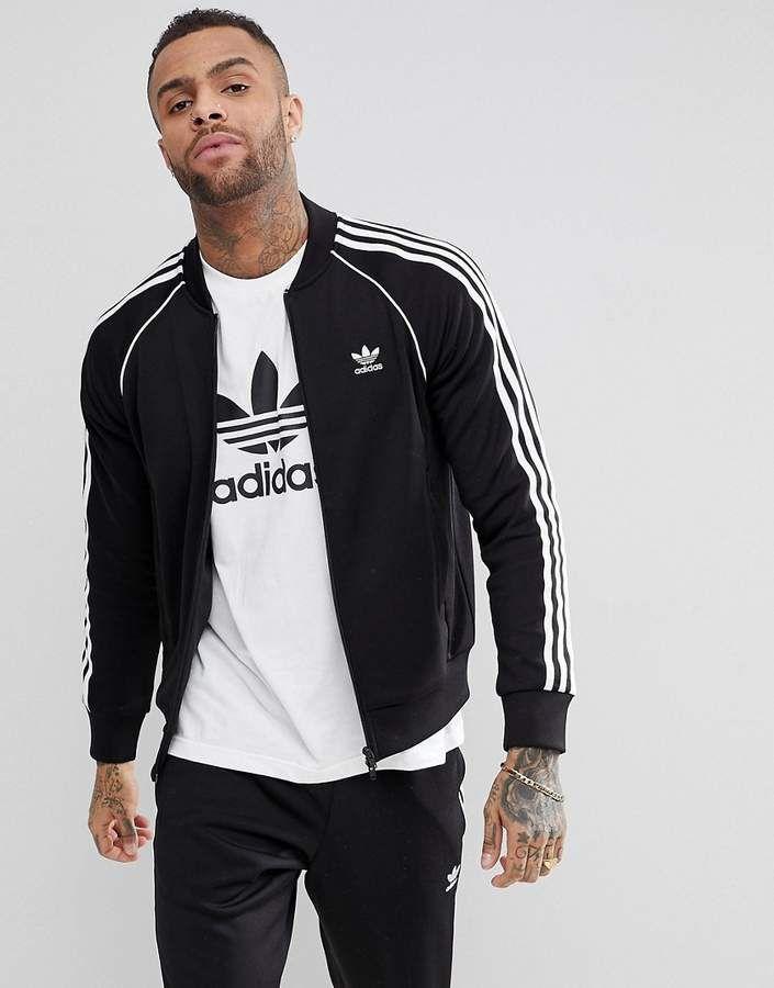 adidas track originali adicolor giacca in nero cw1256 sport