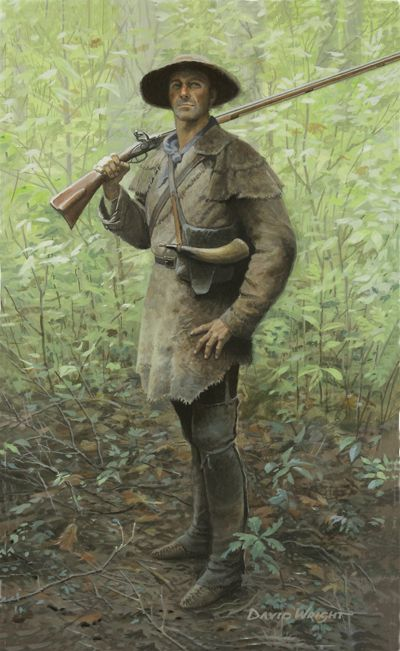 Nothing But A Hunter American Frontier Colonial Art