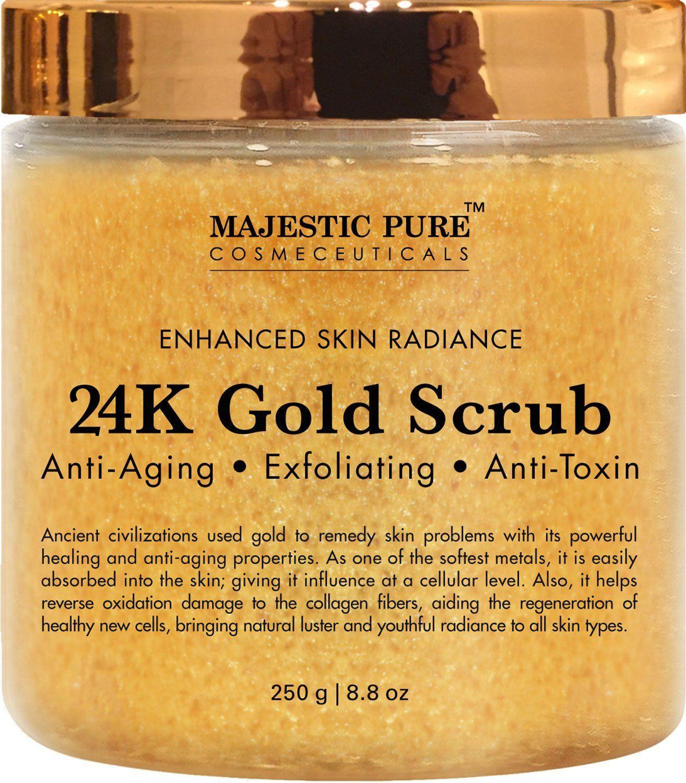 24k Gold Body Scrub And Facial Scrub From Majestic Pure 8 8 Oz
