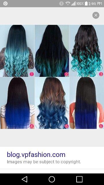 Brown And Blue Hair Blue Tips Hair Blue Hair Extensions Cool