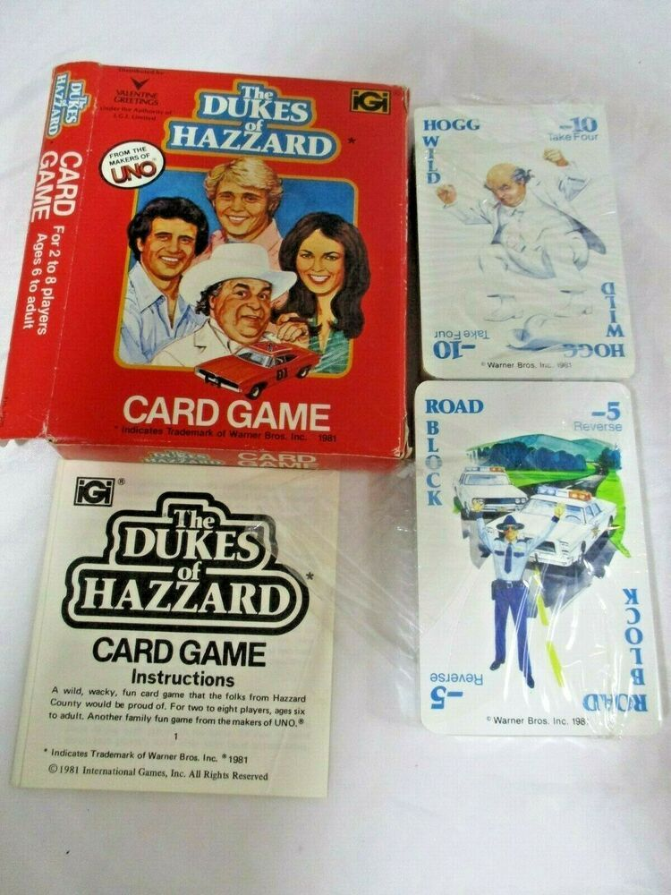 The Dukes Of Hazzard Card Game 28 Players Ages 6