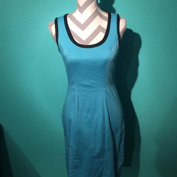 Maurices Dress Blue and Black dress from Maurices. Worn only twice and in perfect condition! No rips, stains, or holes and comes from a smoke free home! Has loops on the side for a belt. Maurices Dresses Midi