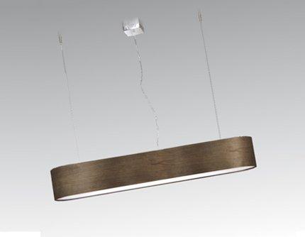 Photo of 4-flame beam pendant lamp Ovla ElTorrent lampshade design: counter