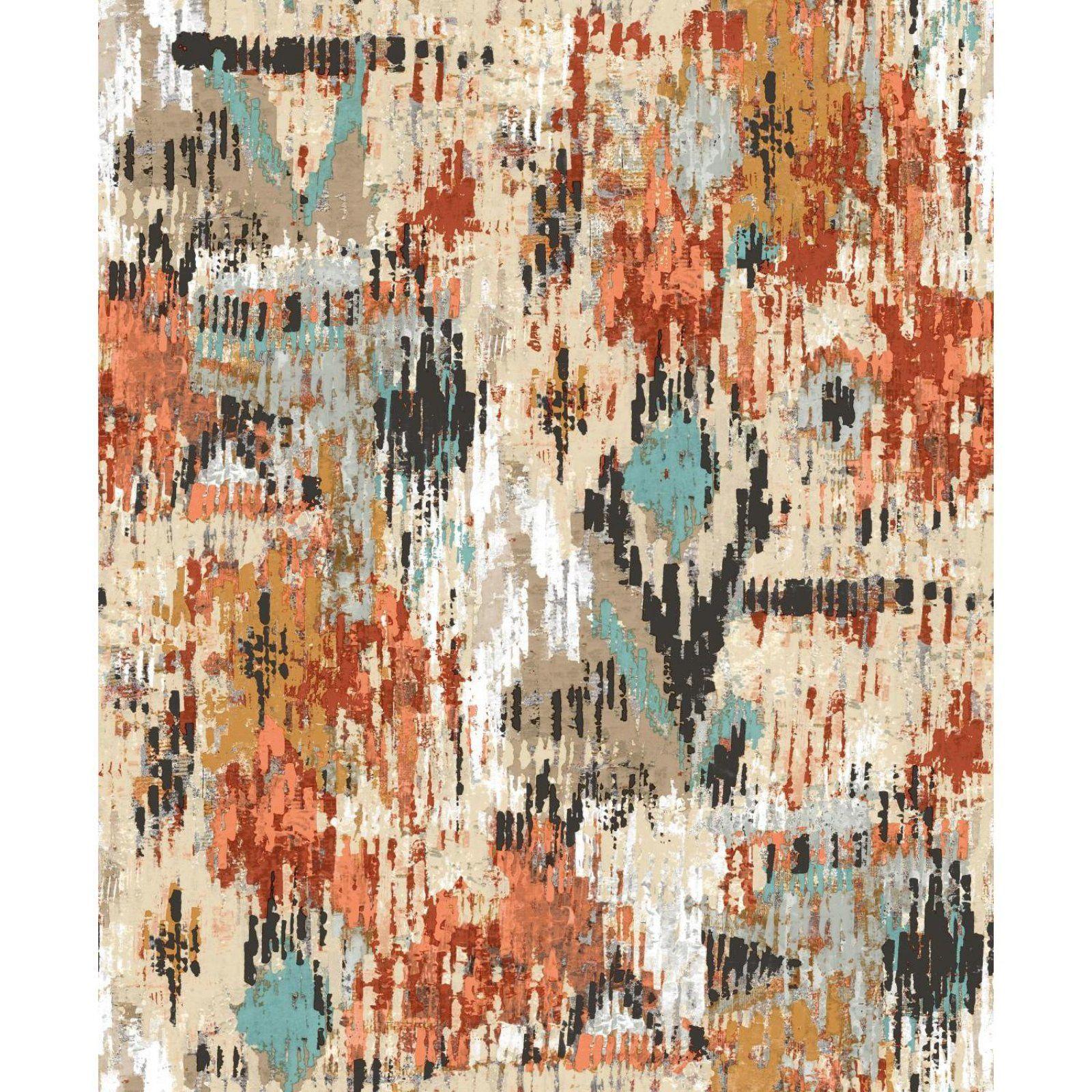 RoomMates Aztec Peel and Stick Wallpaper Orange #aztec