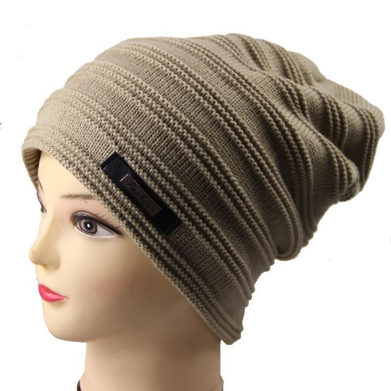 591b43d074d 2016 Brand Beanies Knit Winter Hats For Men Women Beanie Men s Winter Hat  Caps Bonnet Outdoor Ski Sports Warm Baggy Cap M-128