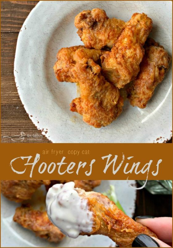 Copycat Hooter's Wings in the Air Fryer - a lighter version of a classic!