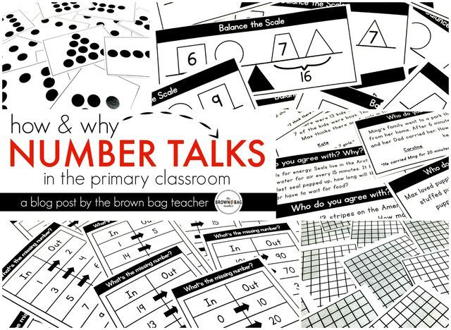 Number Talks: How and Why? (The Brown-Bag Teacher