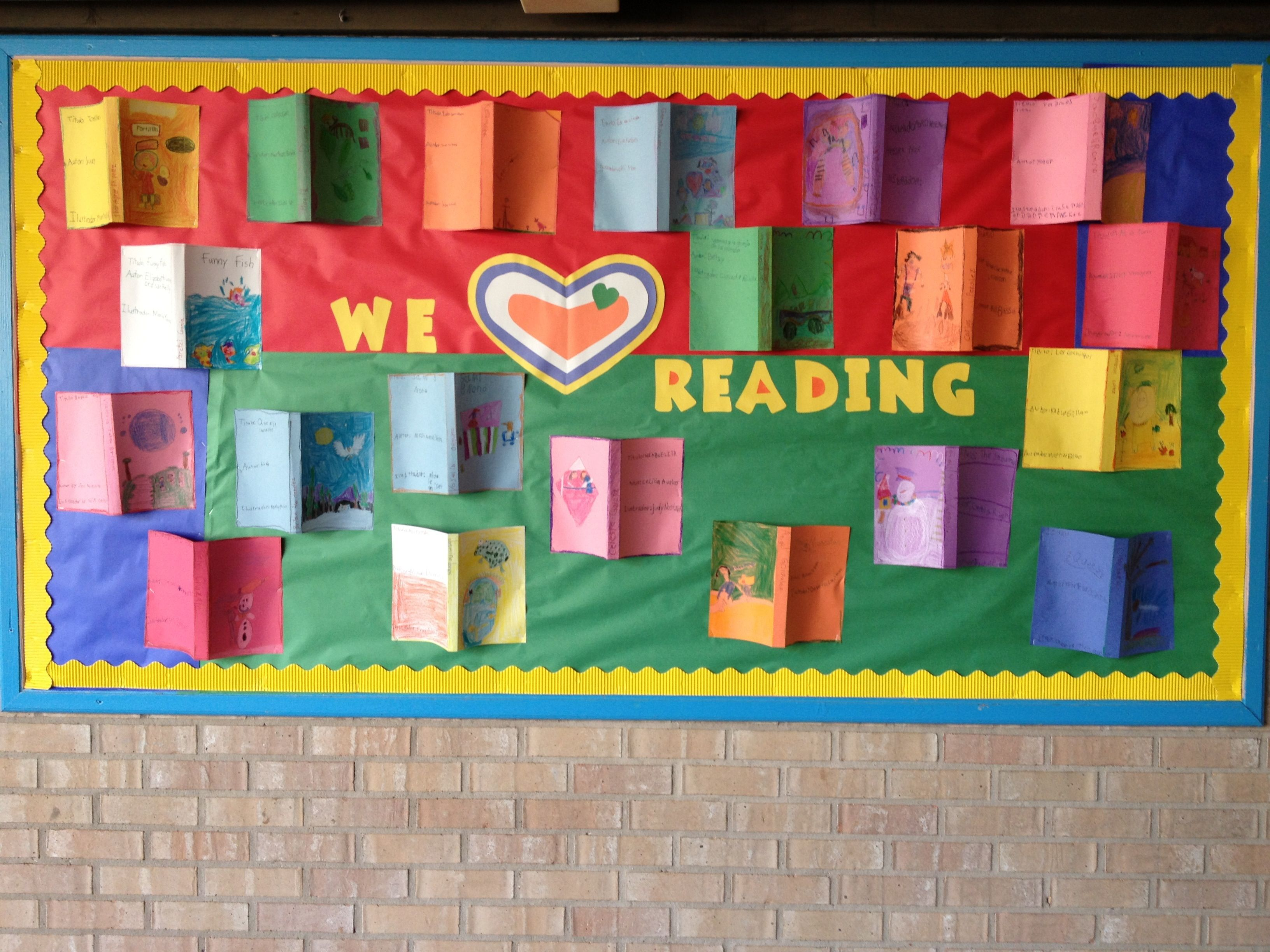 Nice Reading Bulletin Board To Reinforce Title Author And