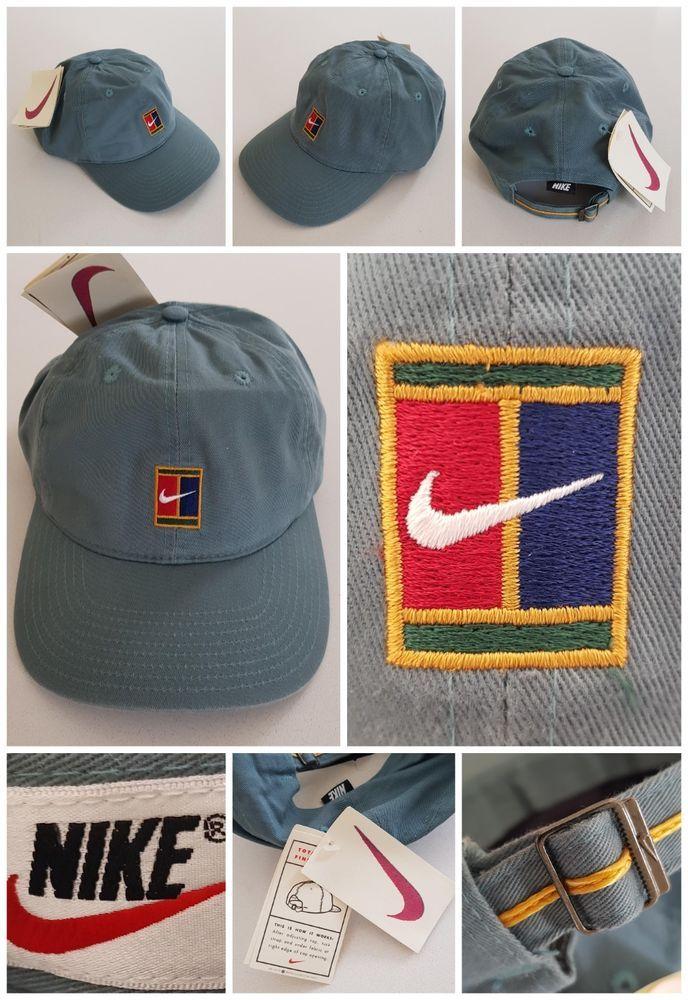 30d259a0cac Nike Supreme Court 90s VTG Sampras Tennis Cap Hat Challenge Agassi Federer  OG DS
