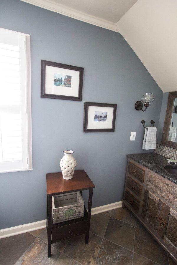 Van Courtland Blue Bathroom Color Custom Vanity And Mirror