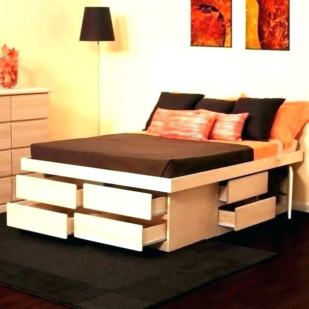 Tall Platform Beds High Bed Frame Full Size Rise Diy Photofond