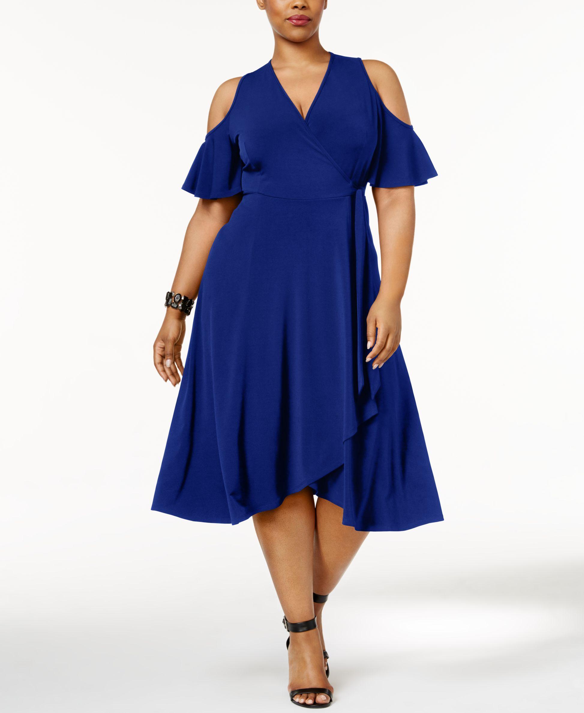 34feaa9d1e00 Soprano Trendy Plus Size Off-The-Shoulder Midi Dress