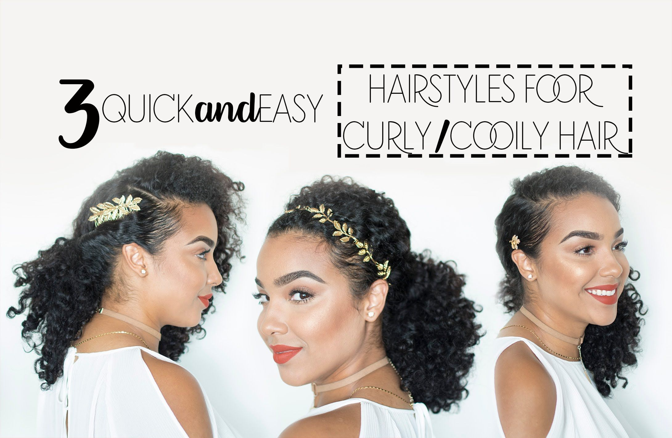 quick and easy hairstyles for curly/coily hair using hair