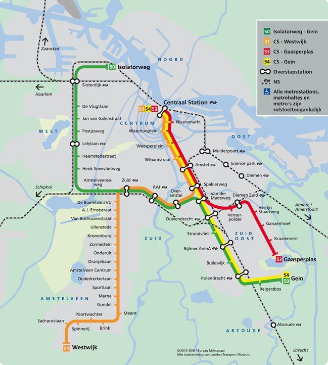 plattegrond met overzicht van metrostations