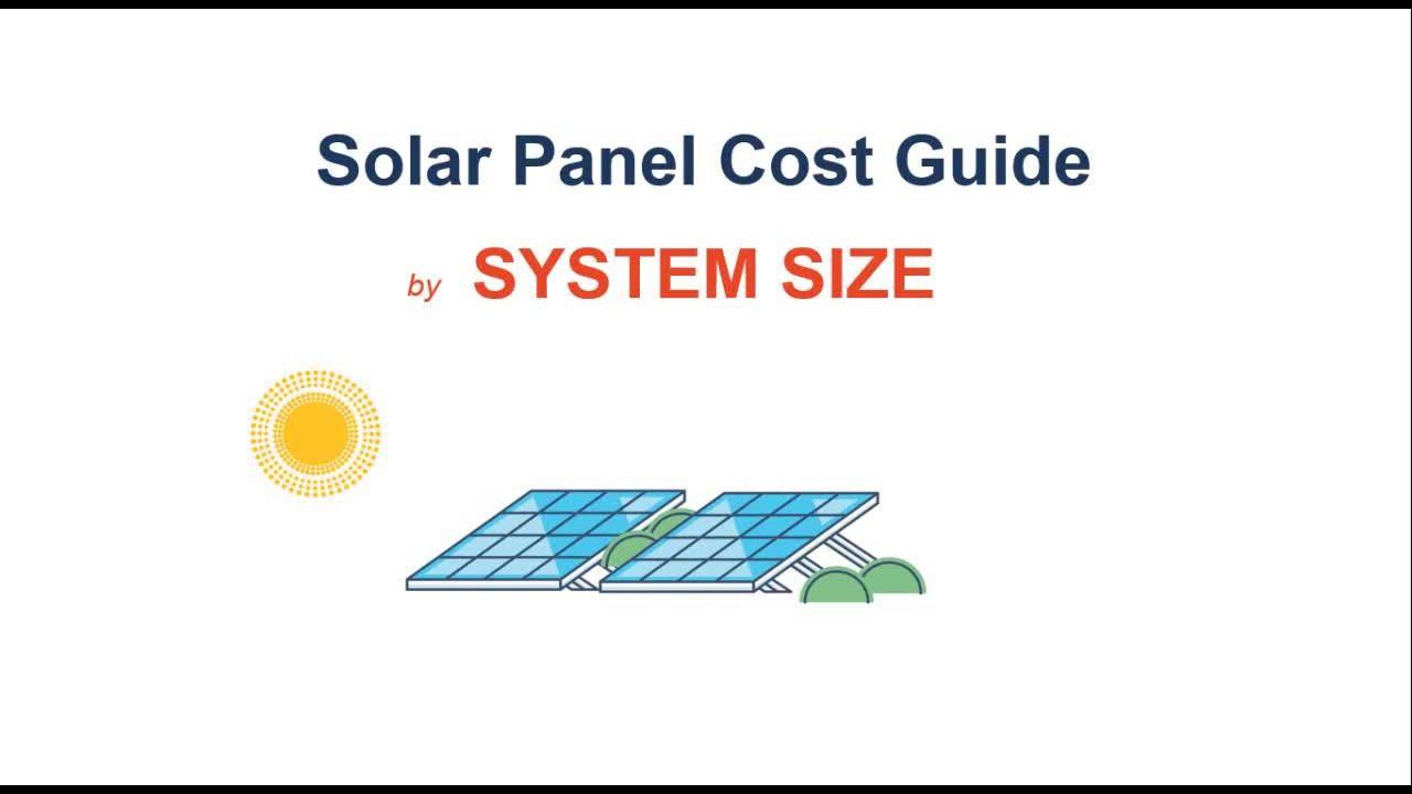 Solar Panel Cost Guide | Solar Panel systems | Solar panel