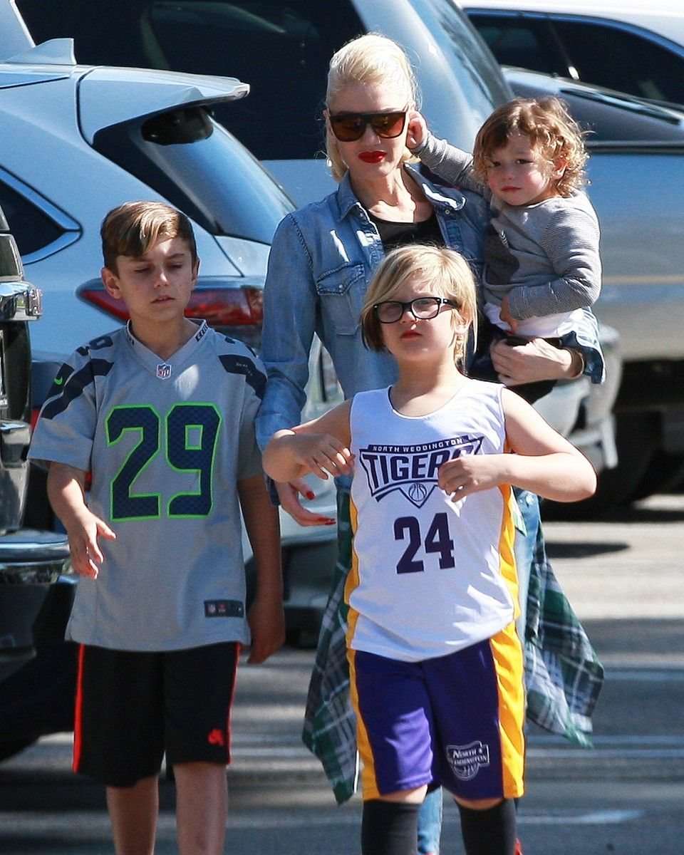 Gwen Stefani with kids Kingston, Zuma, Apollo