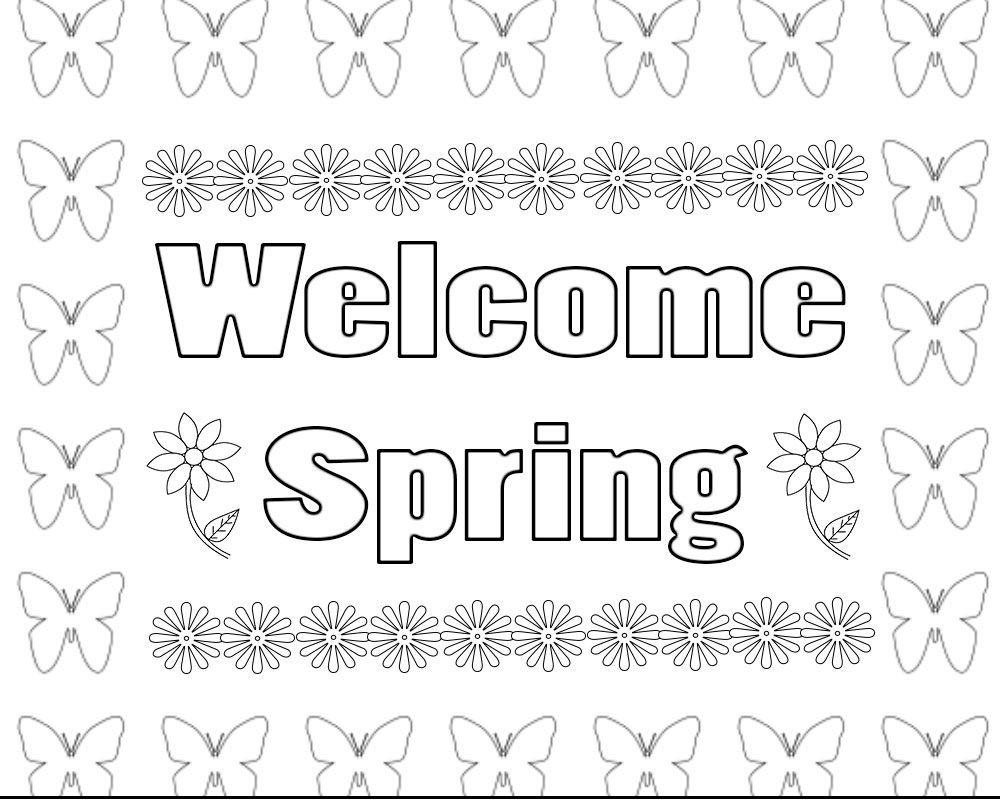 Welcome Spring Coloring Pages Free Printable   Spring ...