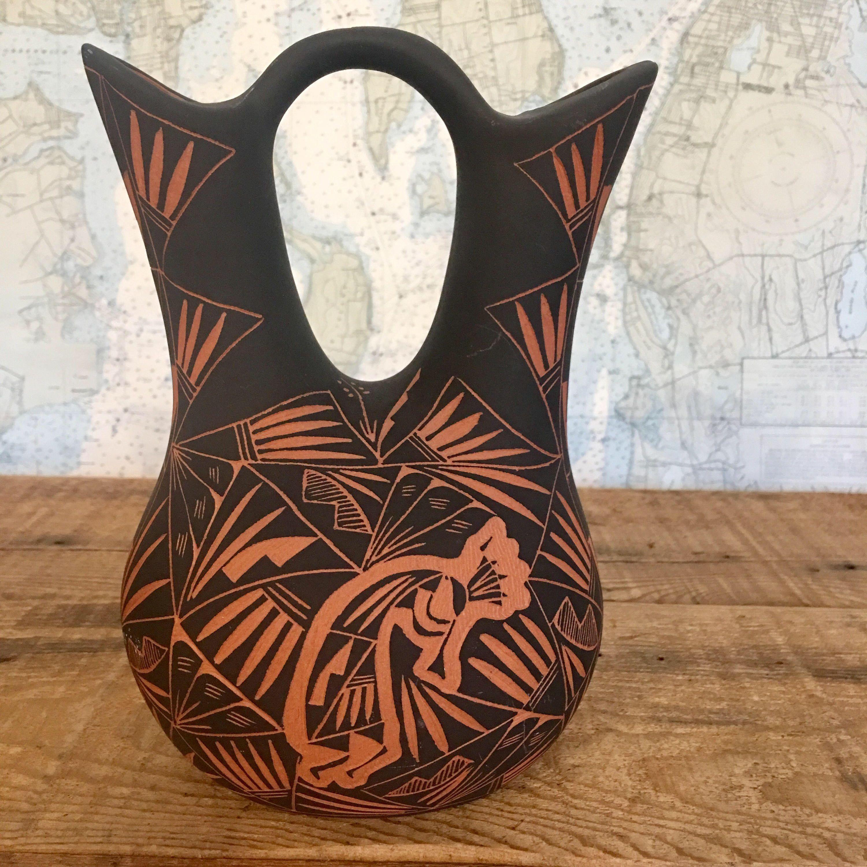 wedding vase, Native American pottery, vase, wedding