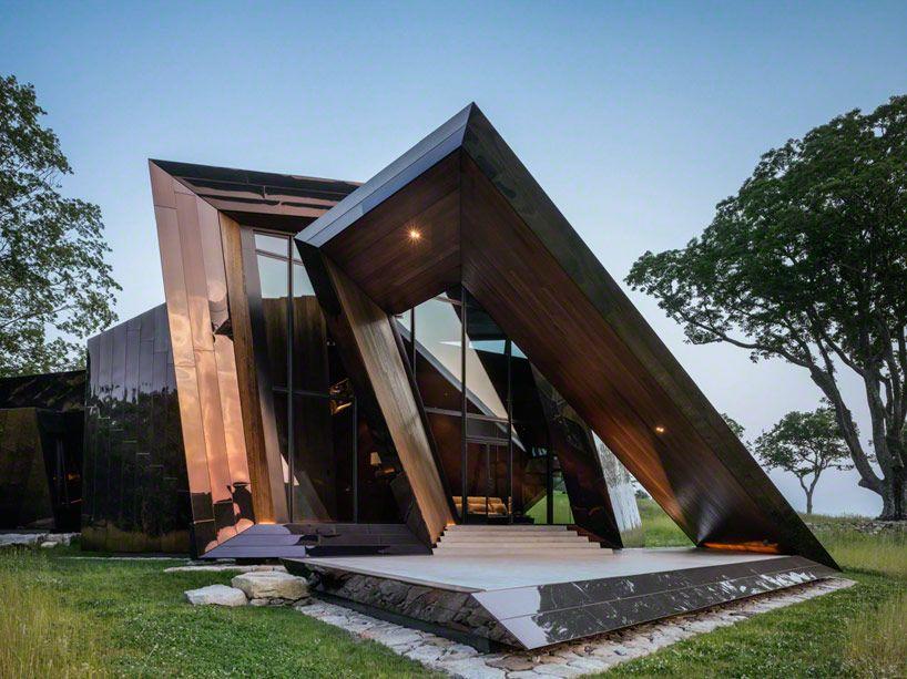 Origami de aço inoxidável - Ideias Diferentes #architecture