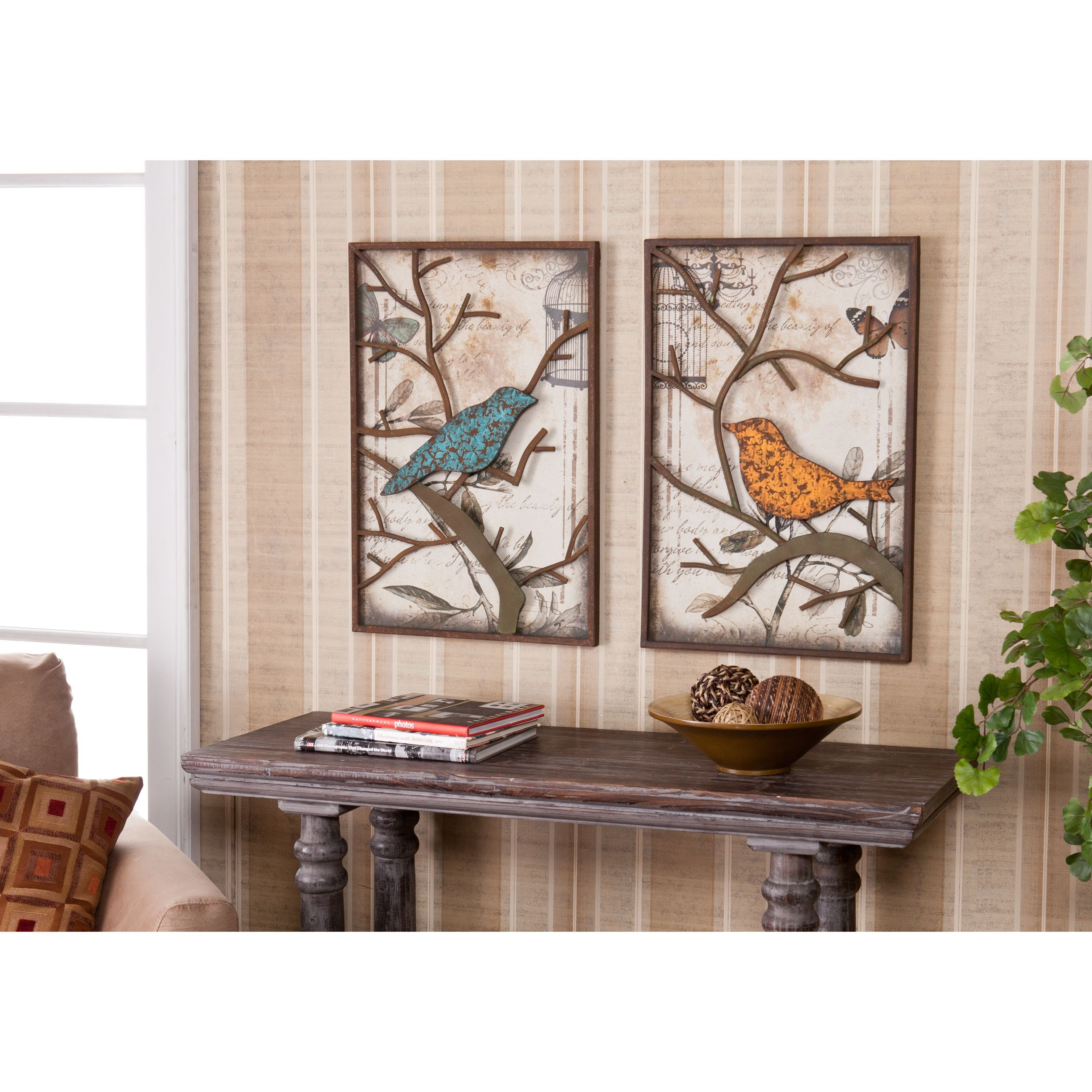 These Vintage Style Wall Art Panels Are Ideal For Adding A Nature