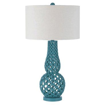 Check out this item at One Kings Lane! Chain Link Table Lamp, Sea Blue