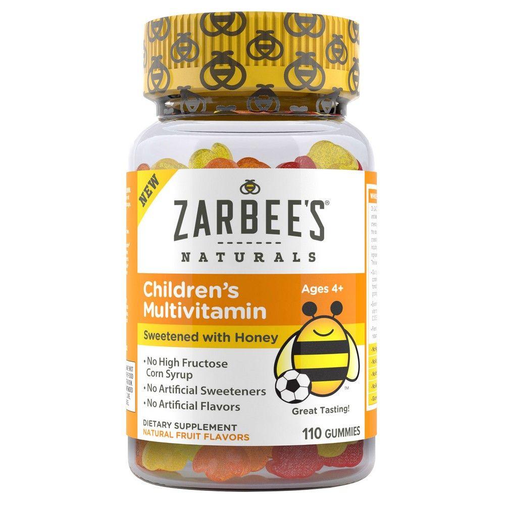 Zarbee's Natural Children's Multivitamin Dietary Supplement Gummies - Honey & Fruit - 110ct ...