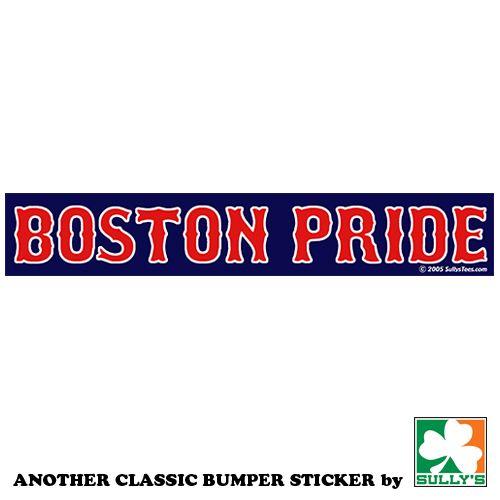 2 X 12 Wide Boston Pride Bumper Sticker Pride Bumper Stickers