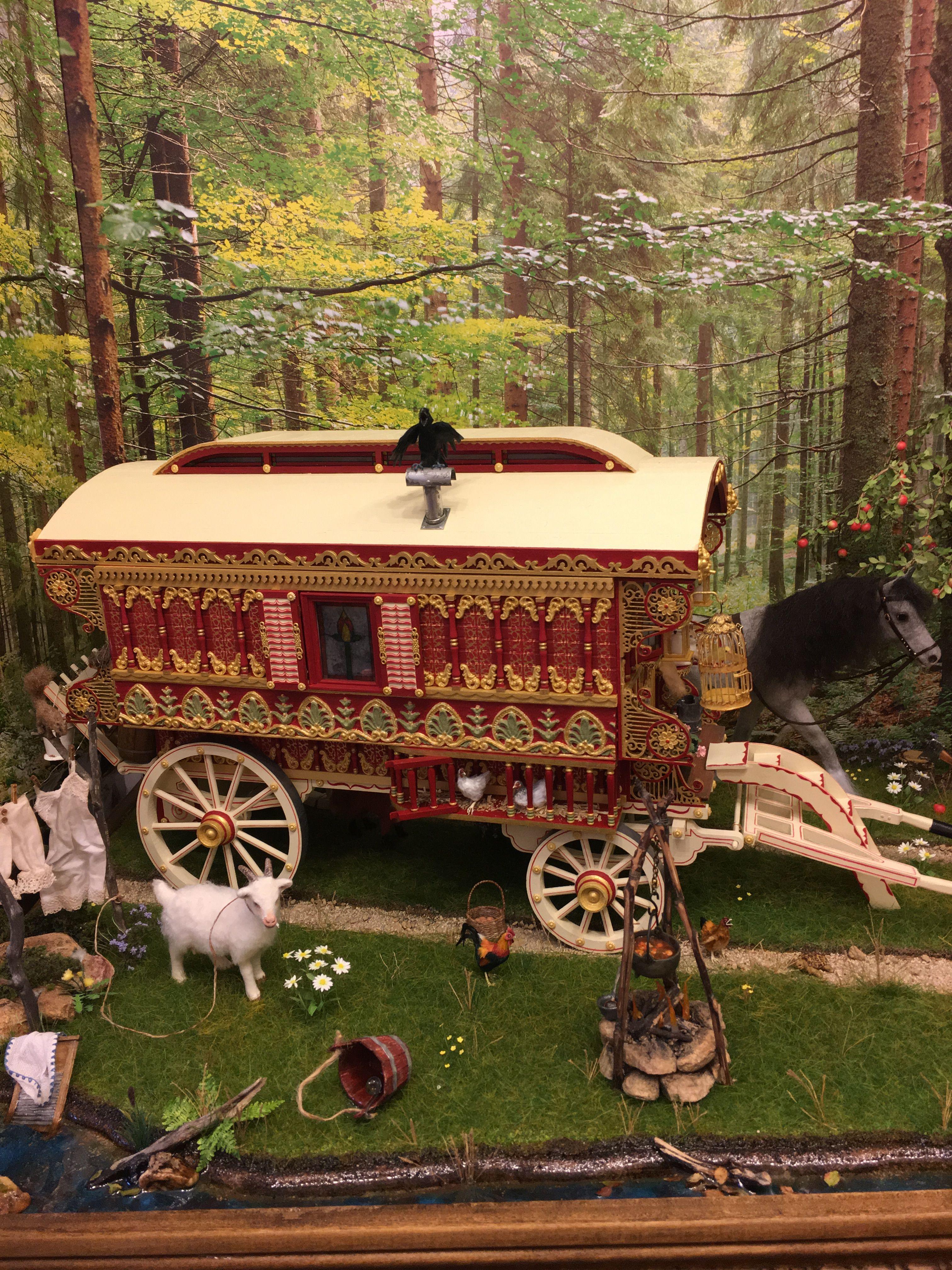 Pin by Mary Broaddus on My 1:12 Gypsy Caravan | Gypsy caravan, Gypsy